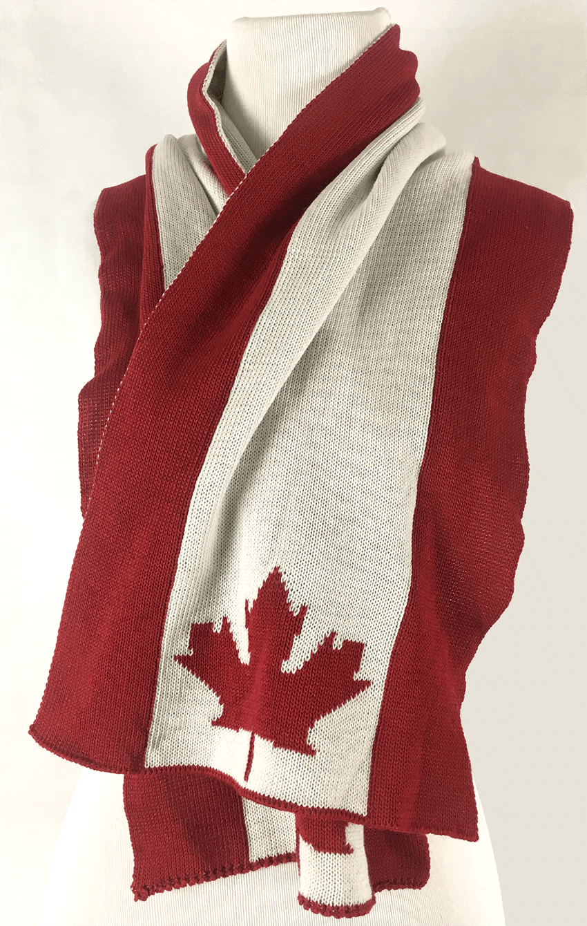 Canadian Flag Scarf