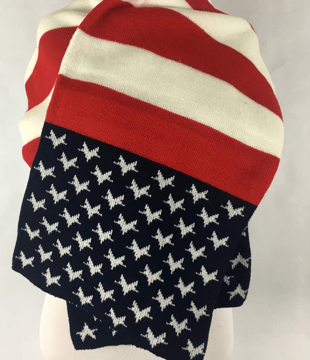 Oversized Patriotic Scarf
